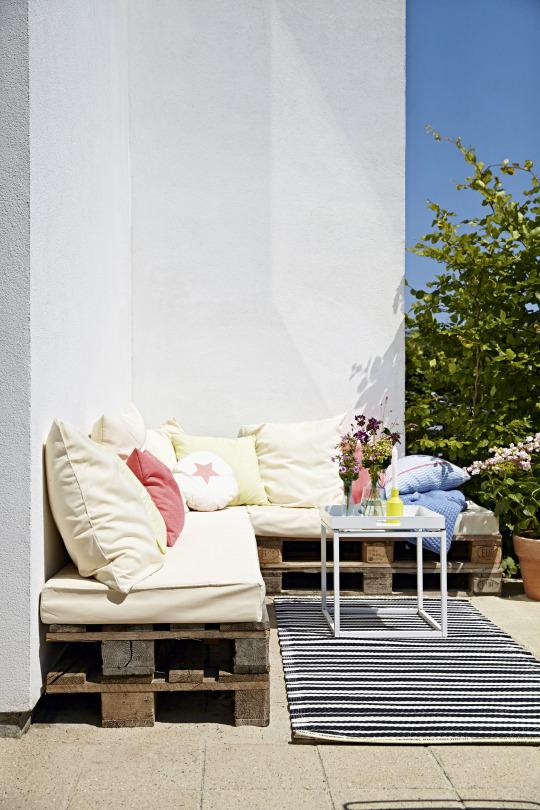 banco,cojines,exterior,balcón,terraza