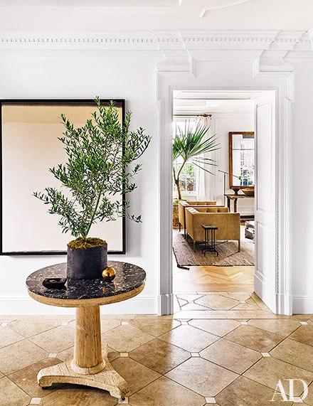 entrada,hall,planta,mesa redonda,