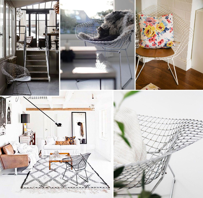 Concurso Inmobiliaria Aliseda juego bertoia diamond replica icono diseño mueble interiorismo silla sillon