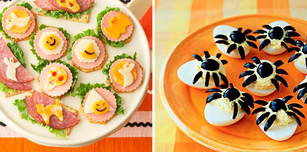 entrante,huevo,tostadas,halloween