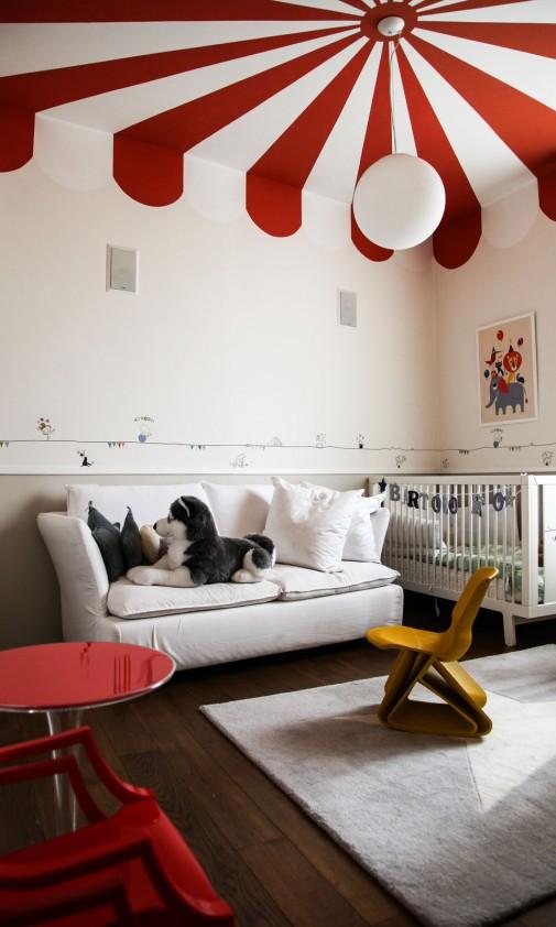 22 dormitorio con techo circo decoratualma