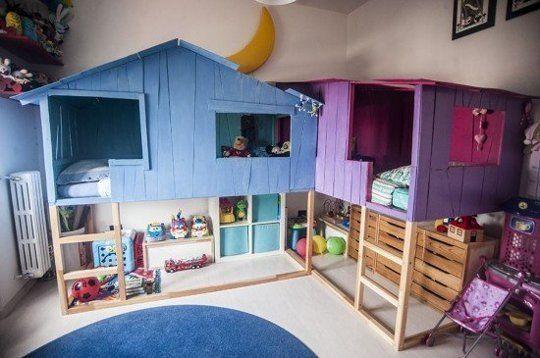 Dormitorio infantil con casitas vecinas decoratualma dta