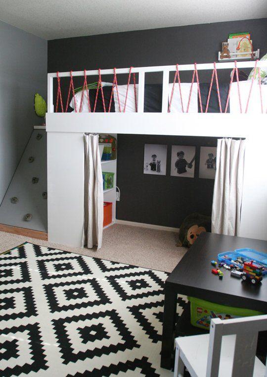 Dormitorio infantil cuardo niños con recodromo escalar dta decoratualma