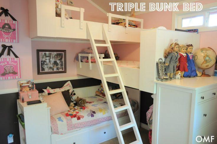 Dormitorio infantil triple lietera decoratualma dta