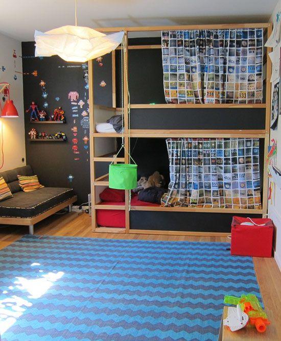 Litera dormitorio infantil dta negro niños kids decoratualma