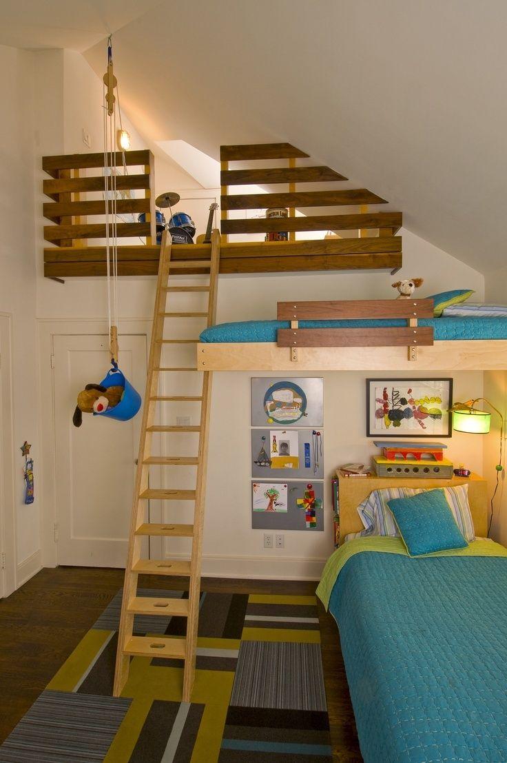 aprovechando espacios verticales dormitorio con altura infantil kids decoratualma dta