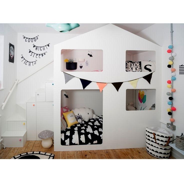 dormitorio infantil doble altura litera decoratualma dta nordico escandinavo