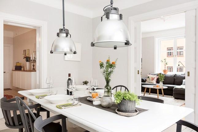 2 comedor estilo industrial nordico en blanco y negro decoratualma dta