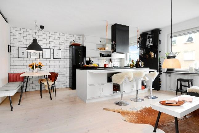 2 cocina comedor decoratualma dta nordico blanco y negro