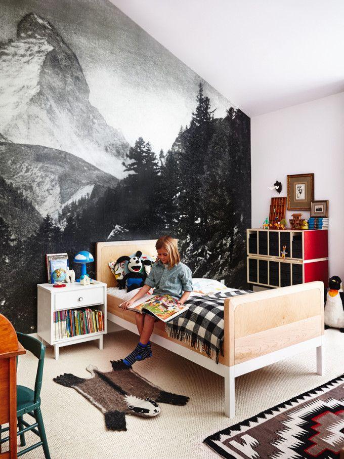 frontal pared con foto gigante decoratualma dormitorio infantil