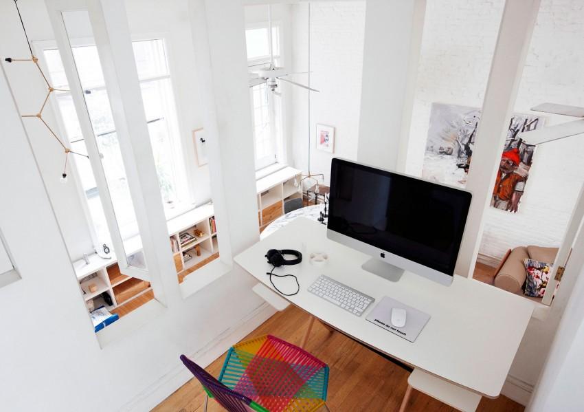 14 espacio de trabajo en el altillo