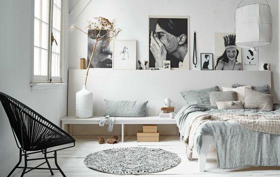 Dormitorio en blanco decoratualma dta luz natural