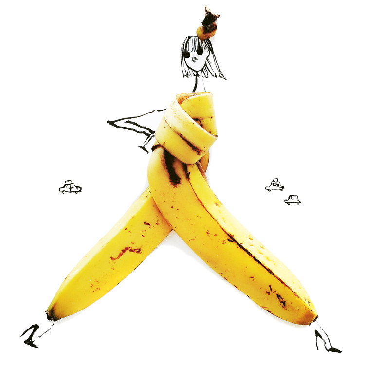 banana art with food decoratualma