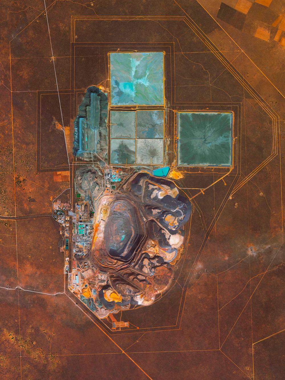 Mina de diamante. Kalahari Desert, Botswana