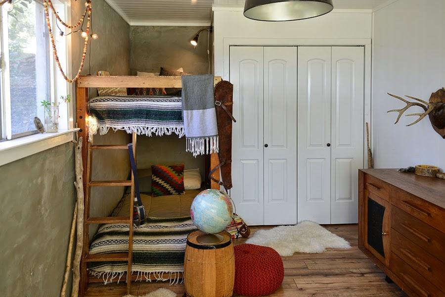 Dormitorio con litera infantil estilo boho soft dta