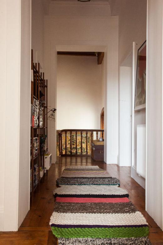 Pasillo alfombra lana