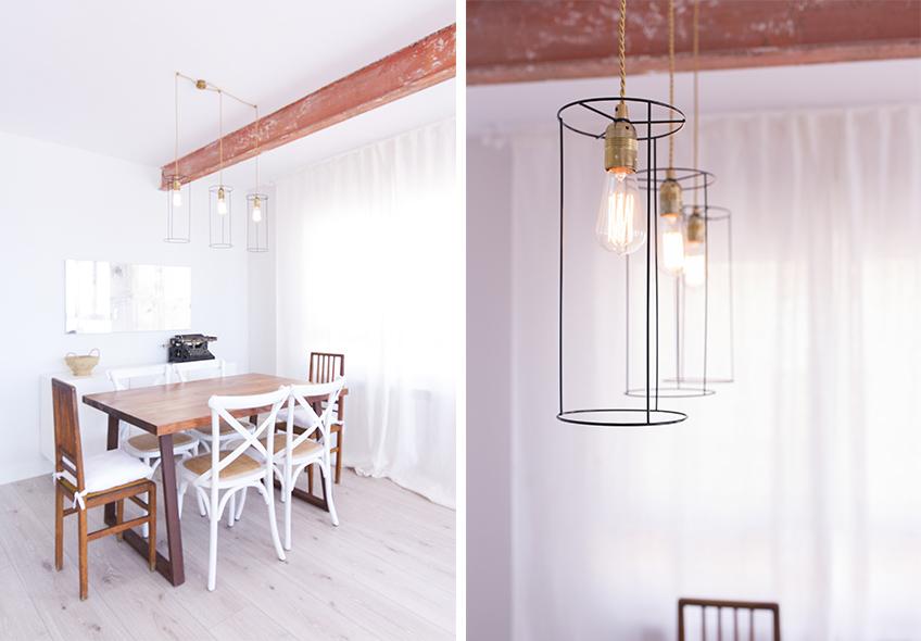 Comedor iluminacion nordico industrial Romaandro decoratualma dta