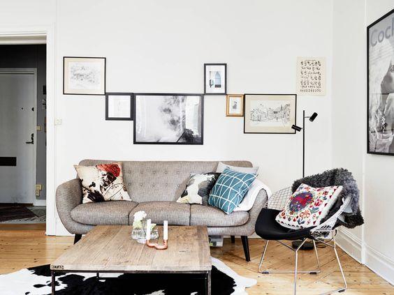 Decorando con cuadros y l minas decoratualma - Composicion cuadros pared ...