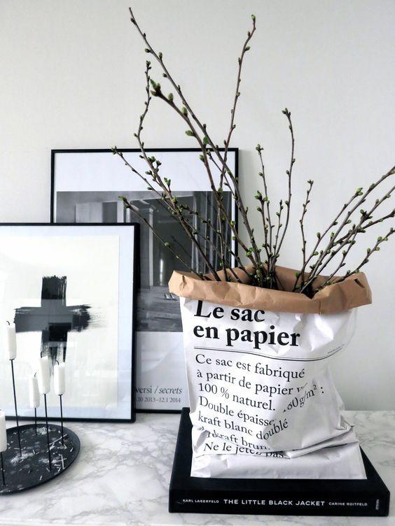 """Saco decorativo """"Le petit sac en papier"""""""
