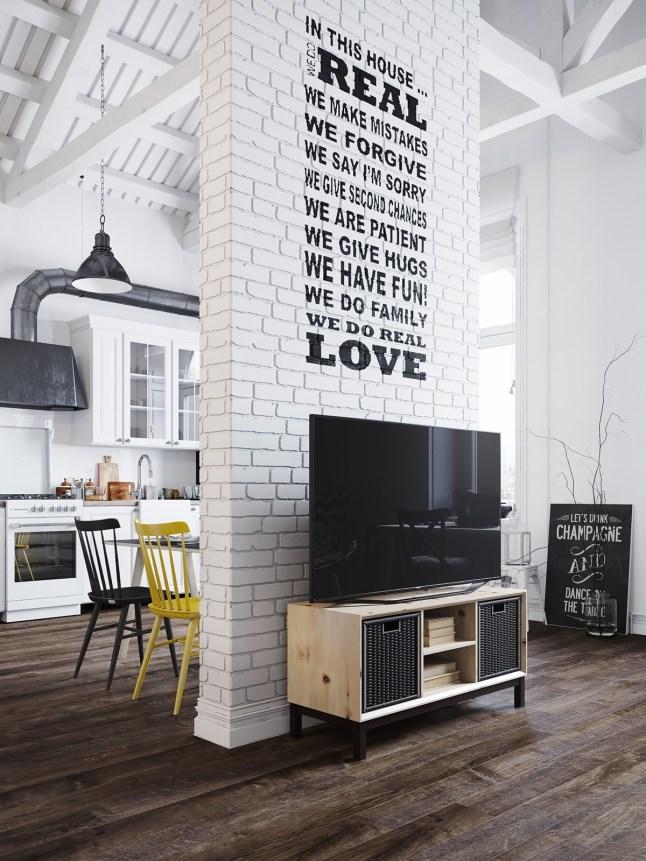 13 muro mueble television pino