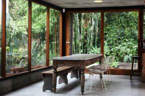 Una casa jardín