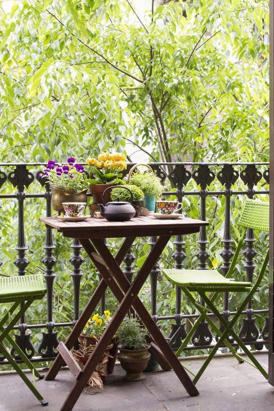 Terraza intima acogedora decoratualma dta balcon verano primavera