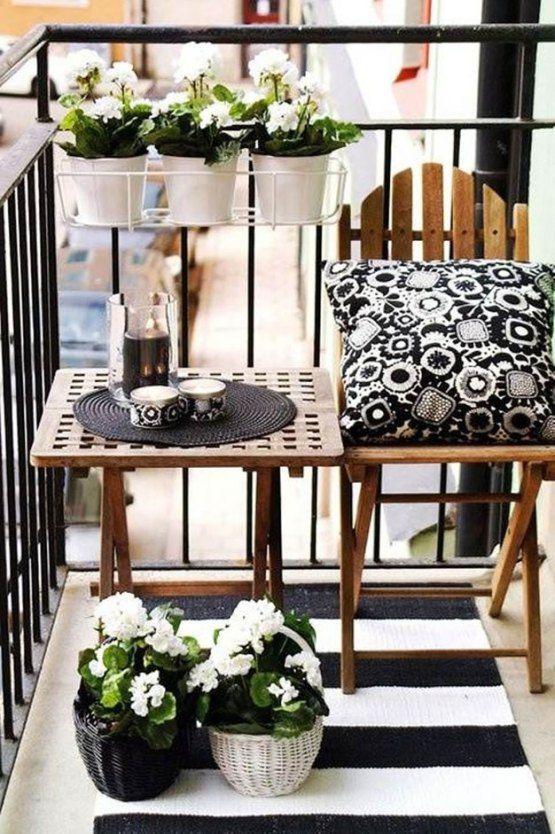 balcon pequeño decoracion verano primavera decoratualma dta