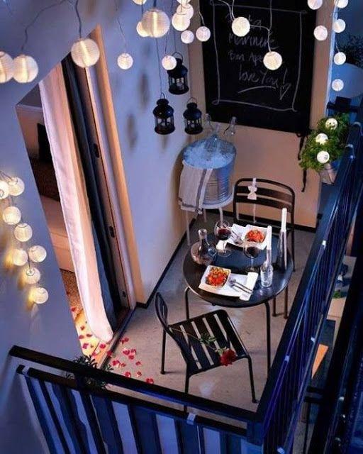 terraza chill out romantica para dos cena noche verano decoratualma dta