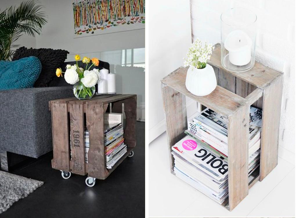 Cajas de madera en tu decoraci n n rdico boho e industrial - Cajas de madera de fruta gratis ...