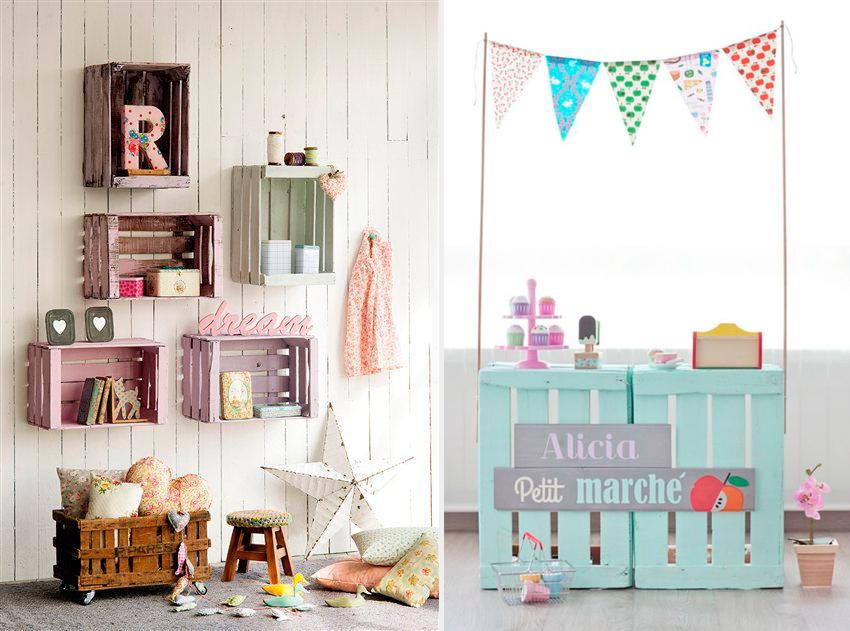 para mantener en orden sus cosas las cajas de madera en tonos pastel son las favoritas para el dormitorio infantil encuntralas en nuesta shop - Estanterias Con Cajas
