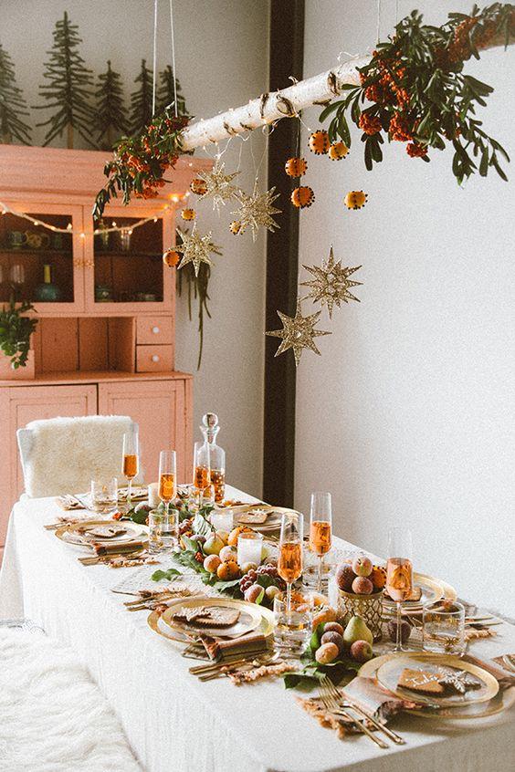 Como hacer un centro de mesa elevado Decoracin navidea
