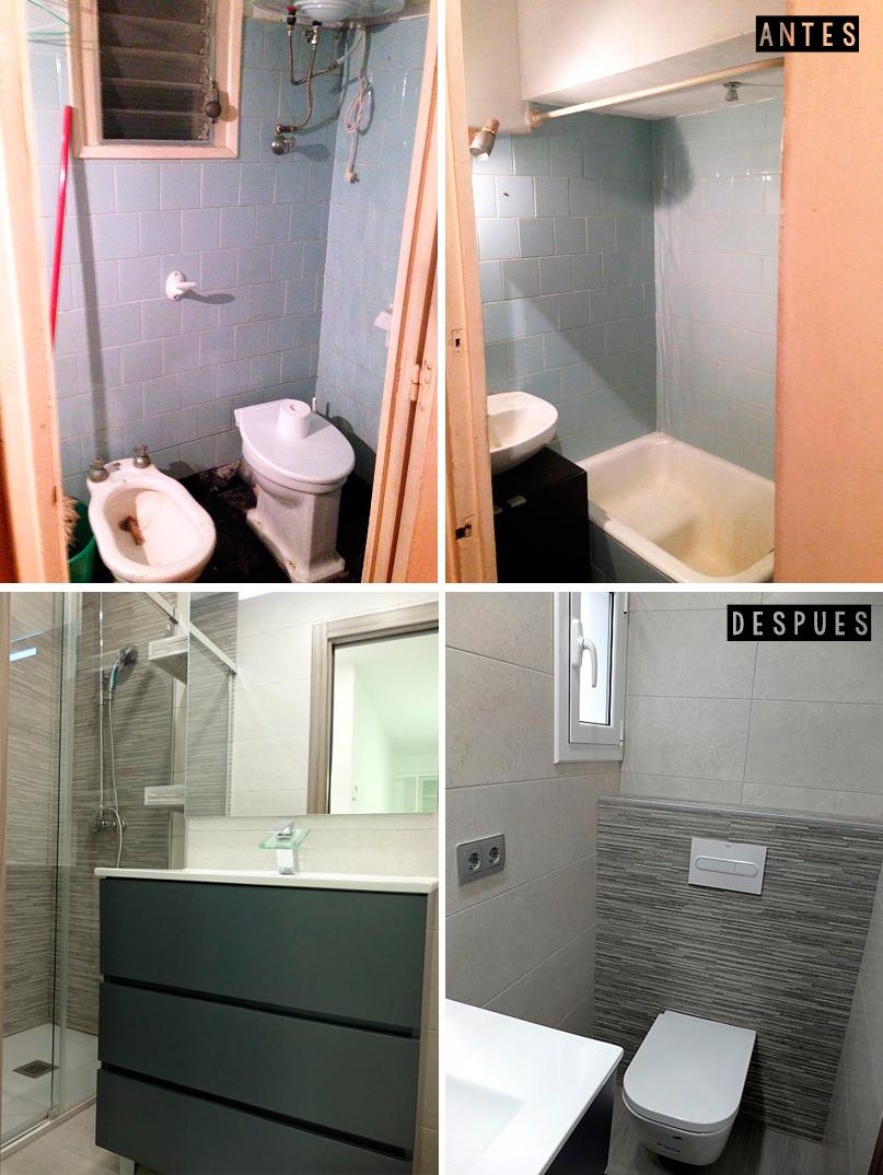 Antes y después reforma integral en un piso de 60 metros cuadrados