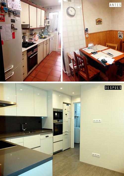 Antes y después reforma integral vivienda