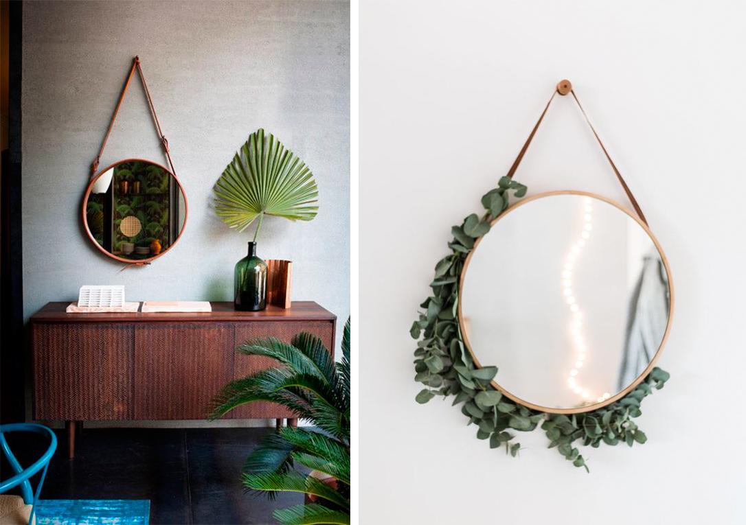 Inspiraci n decorar con espejos decoratualma for Espejos circulares pared