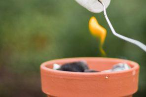 DIY mini fogata para una merienda de verano
