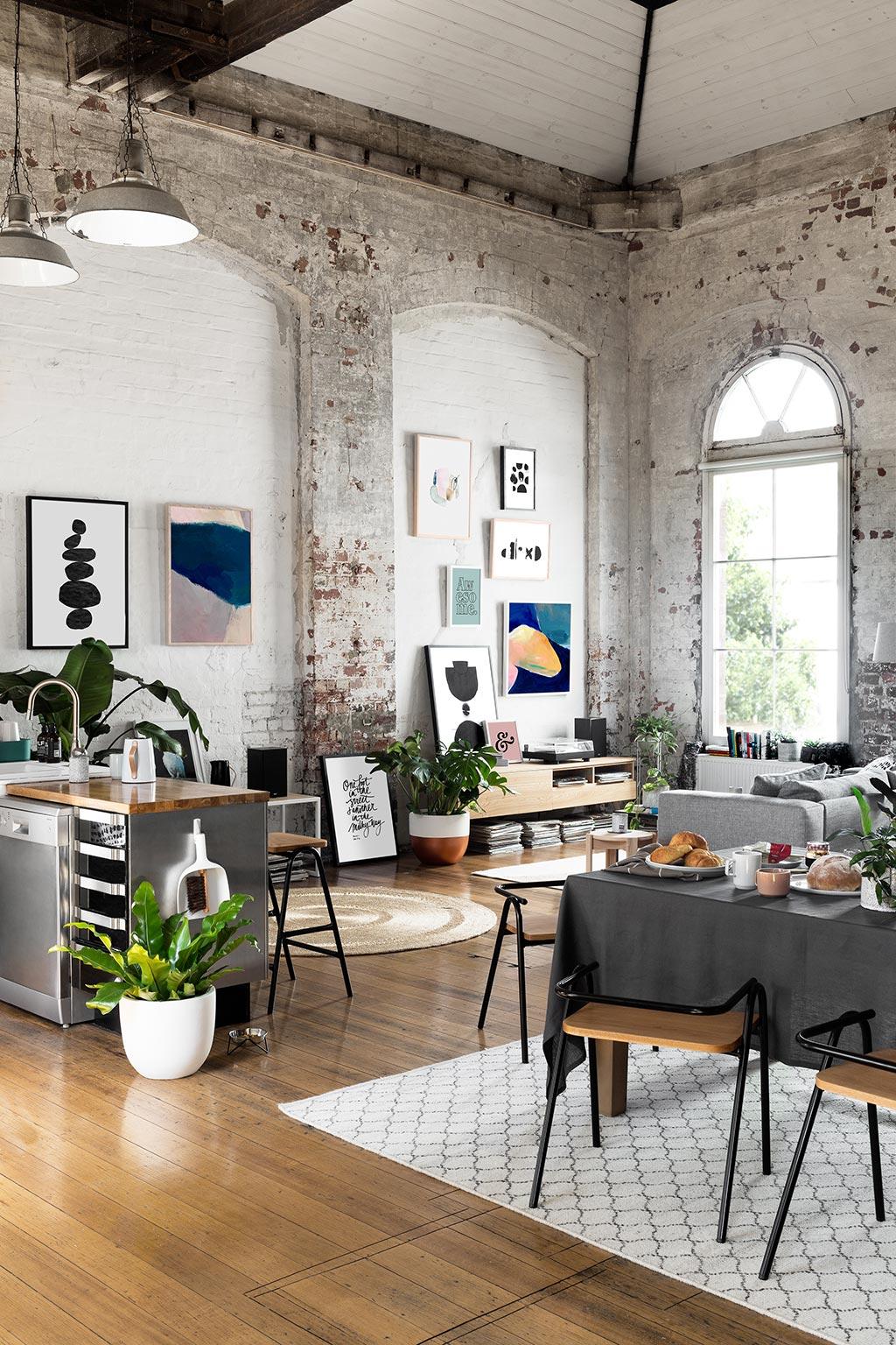 Loft ecl ctico decoratualma for Cocina salon espacio abierto