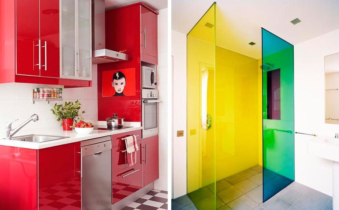 C mo planificar tu decoraci n para un nuevo hogar - Cocinas con colores vivos ...