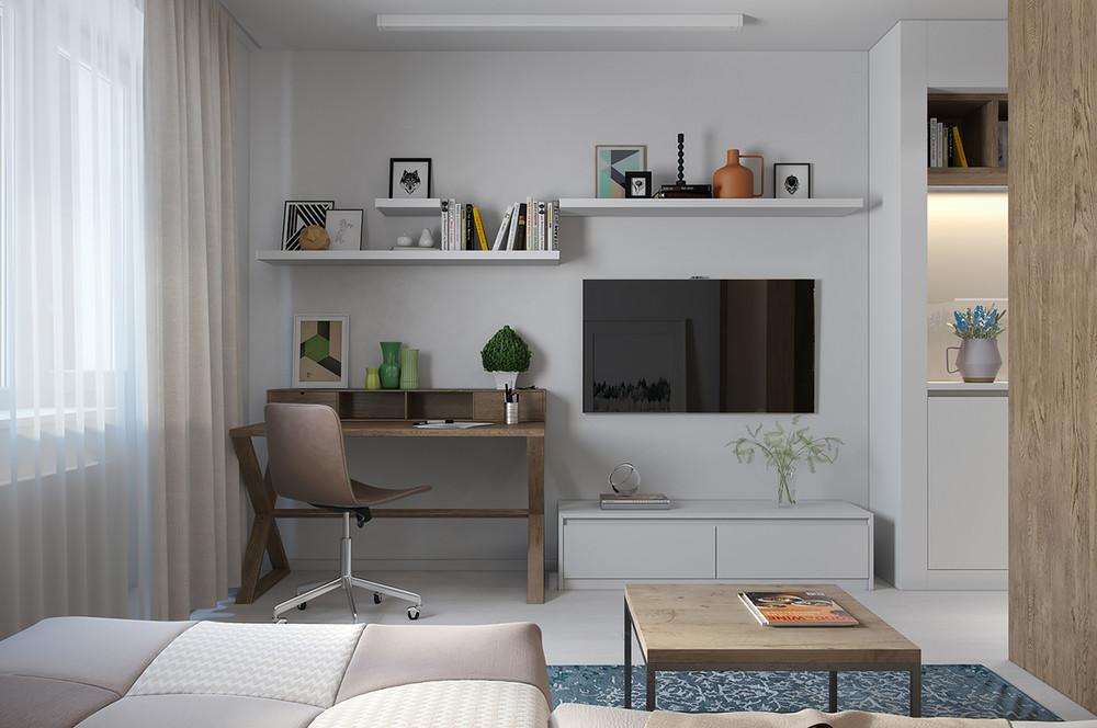 Lujo en menos de 30 metros cuadrados decoratualma for Departamentos pequenos modernos decorados