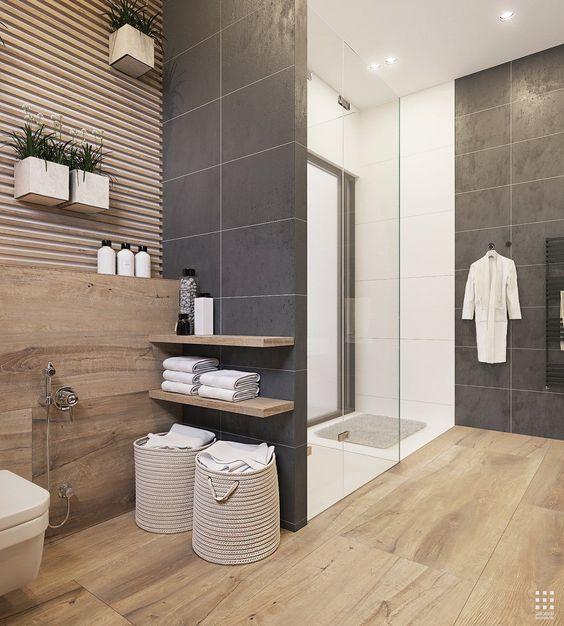 Baño moderno con plato de ducha