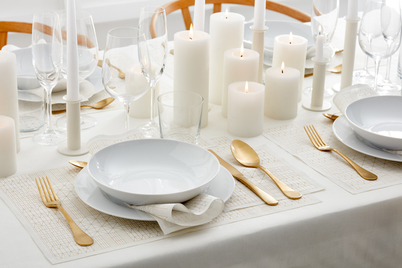 Estilos para vestir y decorar una mesa 'formal'